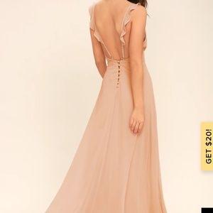 Lulu's meteoric blush maxi dress size extra small